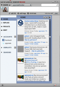 Screen shot of Seesmic Desktop