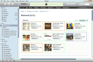 Search for Beloved in iTunes