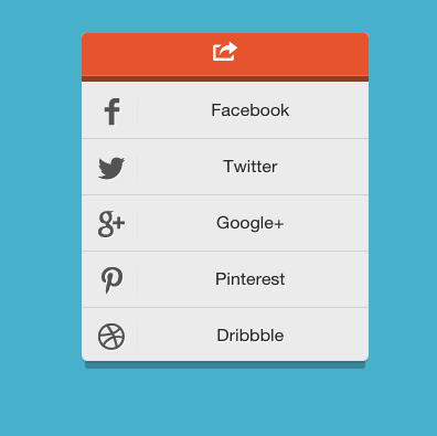 example menu for html5 widget