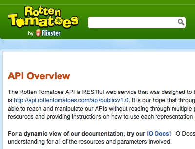 Building mobile application with Rotten Tomatoes API