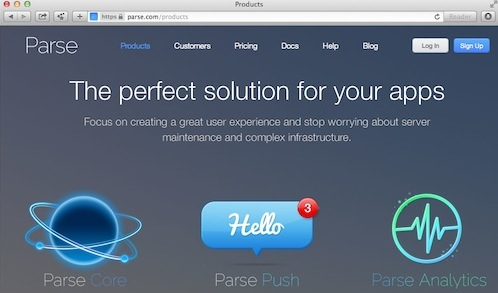 parse HTML5 mobile backend
