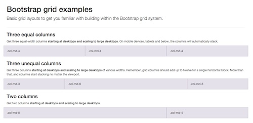 Bootstrap Grid examples