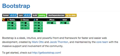 Bootstrap is very well maintained framework