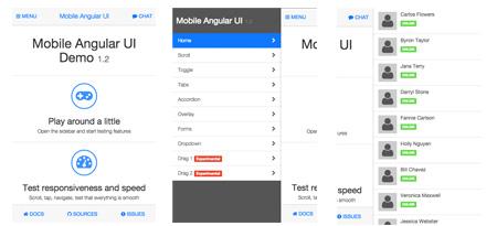 Mobile Angular framework on HTMLCenter