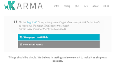 Karma spectacular test runner for Angular