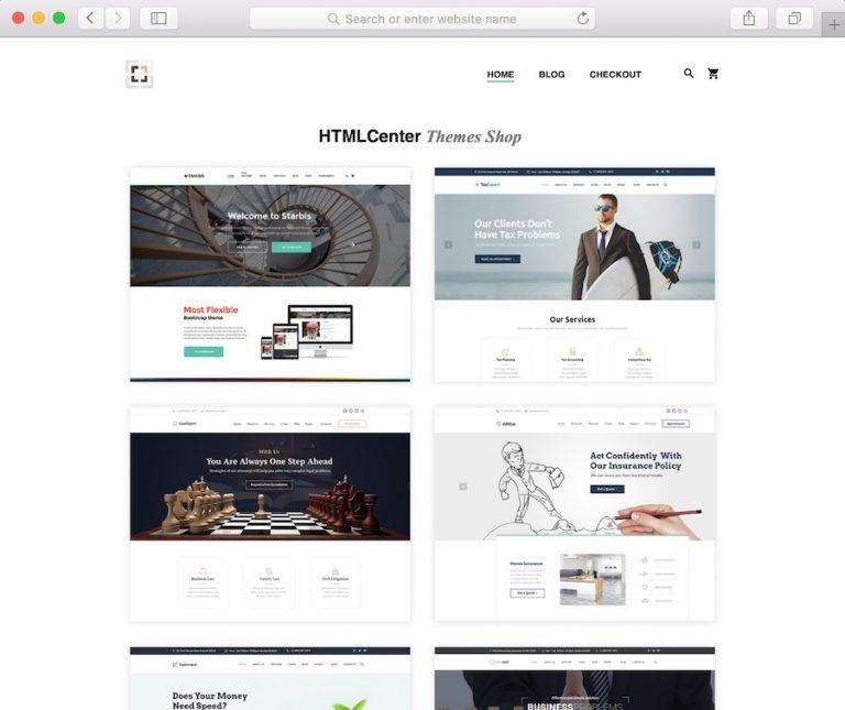 htmlcenter ecommerce store